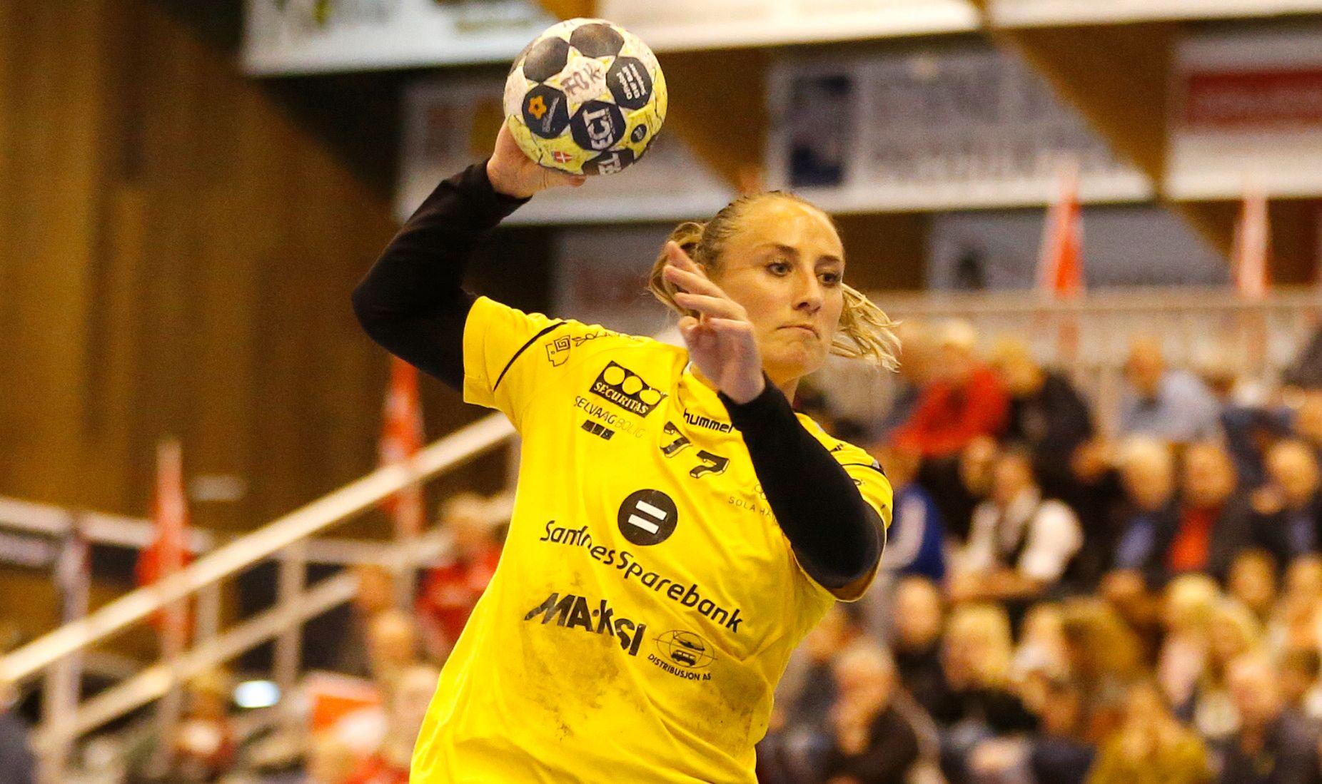 TILBAKE: Camilla Herrem spilte NM-kamp og scoret mål igjen for Sandnes.