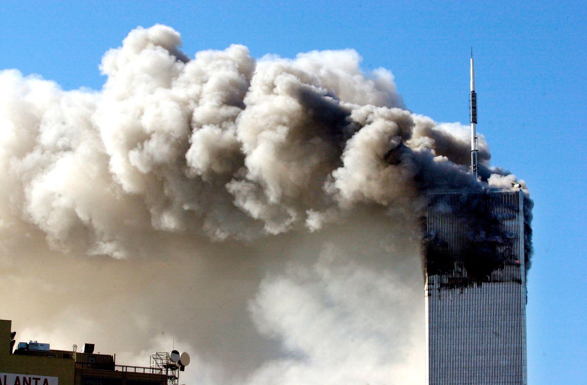 New York, USA. 11. september, New York, World Trade Center.