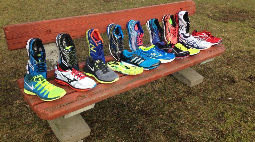 8681bb0b FARGERIKT UTVALG: Pris betyr ikke alltid kvalitet. Les vår test for å finne  skoen som passer best for deg! Foto: EIVIND BYE, RUNNERS' WORLD