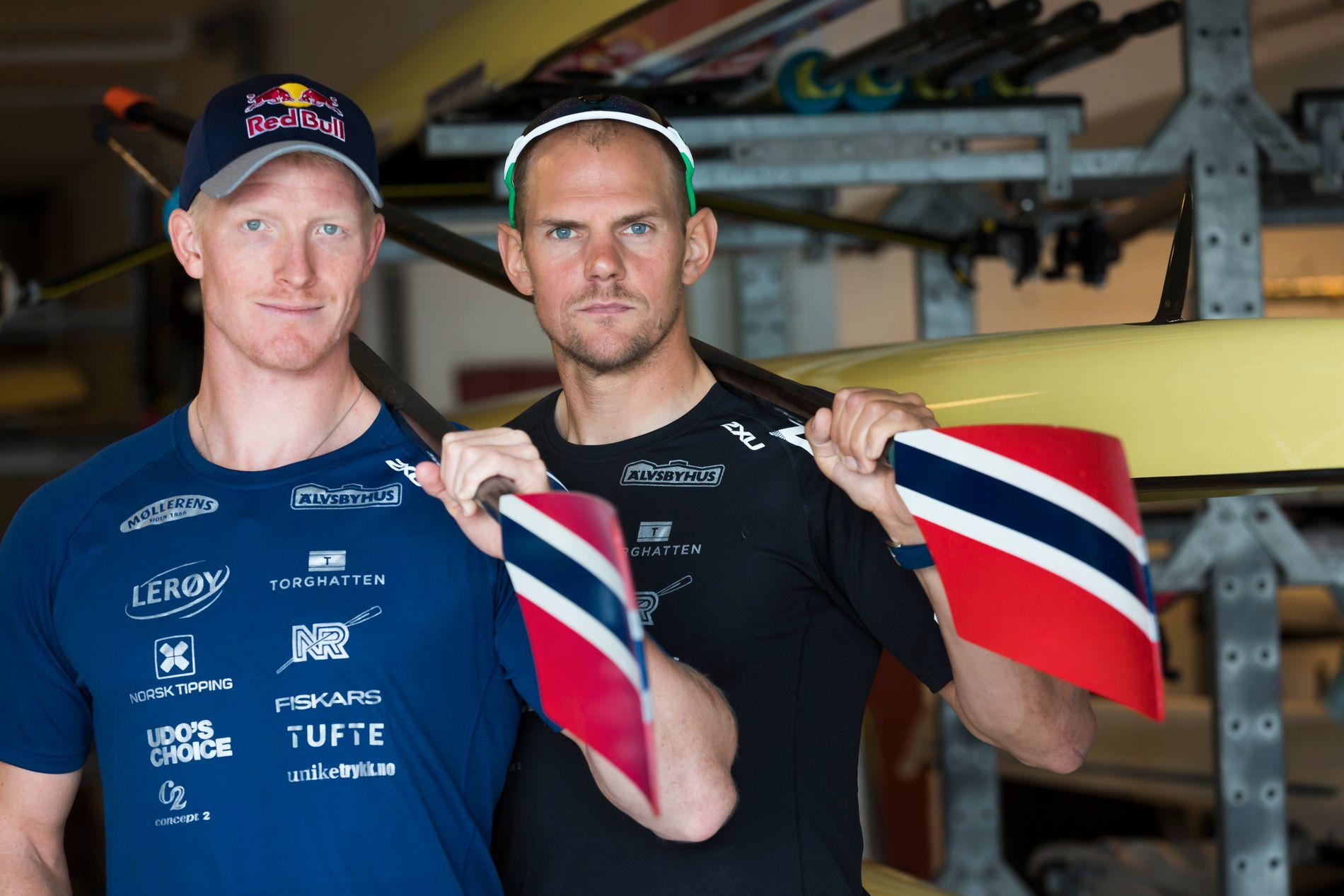 REVANSJELYSTNE: Kjetil Borch (27) og Olaf Tufte (41) vil vise at de kan enda bedre enn bronsen de tok i Rio.