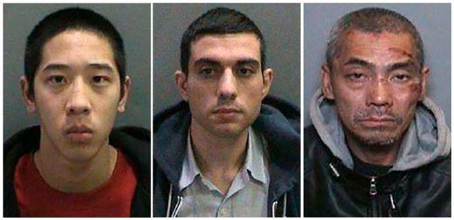 PÅ FRIFOT: De innsatte (f.v) Jonathan Tieu (20), Hossein Nayeri (37) og Bac Duong (43) rømte fra et fengsel i California fredag.