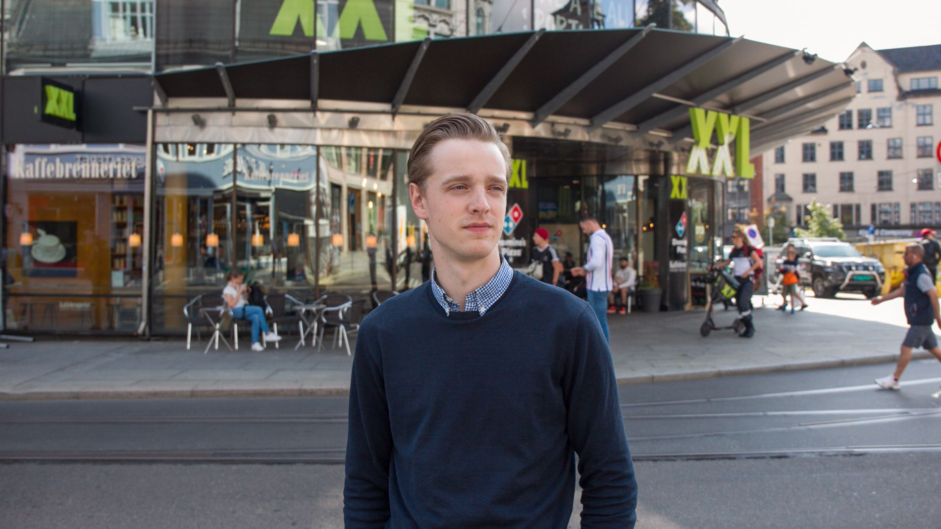 HISTORY OF JUKS: Christian Sandmo Olsen became the middle manager in XXL at the age of 20. It meant being part of a system where employees made sales figures, he says.