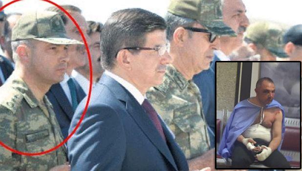 VAR TOPPOFFISER: Oberstløytnant Levent Türkkan var hærsjef Hulusi Akars personlige assistent og skal ha holdt ham som fange under kuppet. Det innfelte bildet er sendt ut av regjeringens pressebyrå.