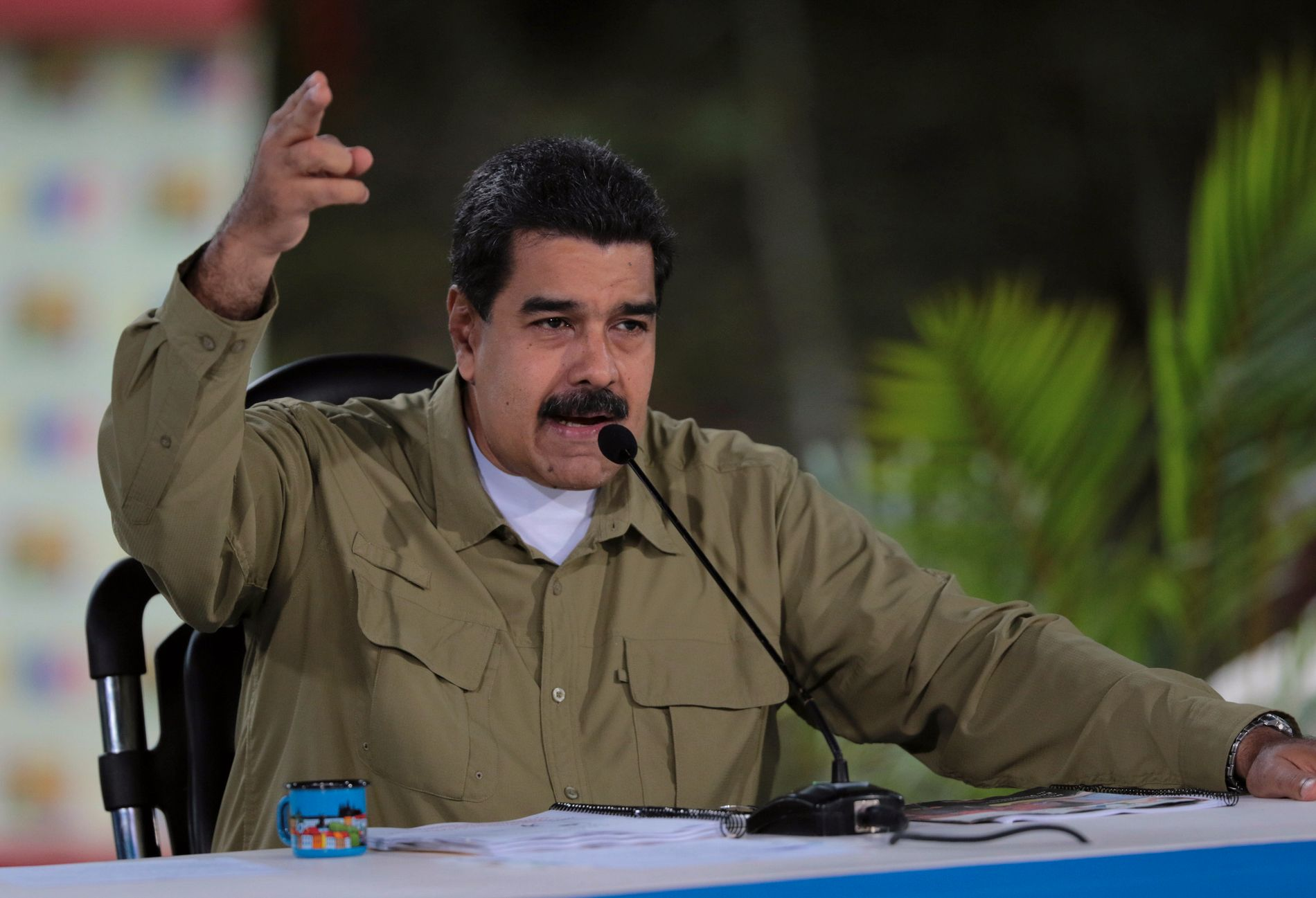 I SAMTALER MED OPPOSISJONEN: Venezuelas president Nicolás Maduro bekrefter at han er i samtler med opposisjonen.