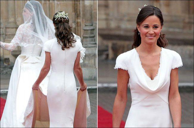 VAKTE OPPSIKT: Da Pippa Middleton var forlover for hertuginne Kate i 2011, ble den figurnære kjolen og Pippas bakdel en stor snakkis.