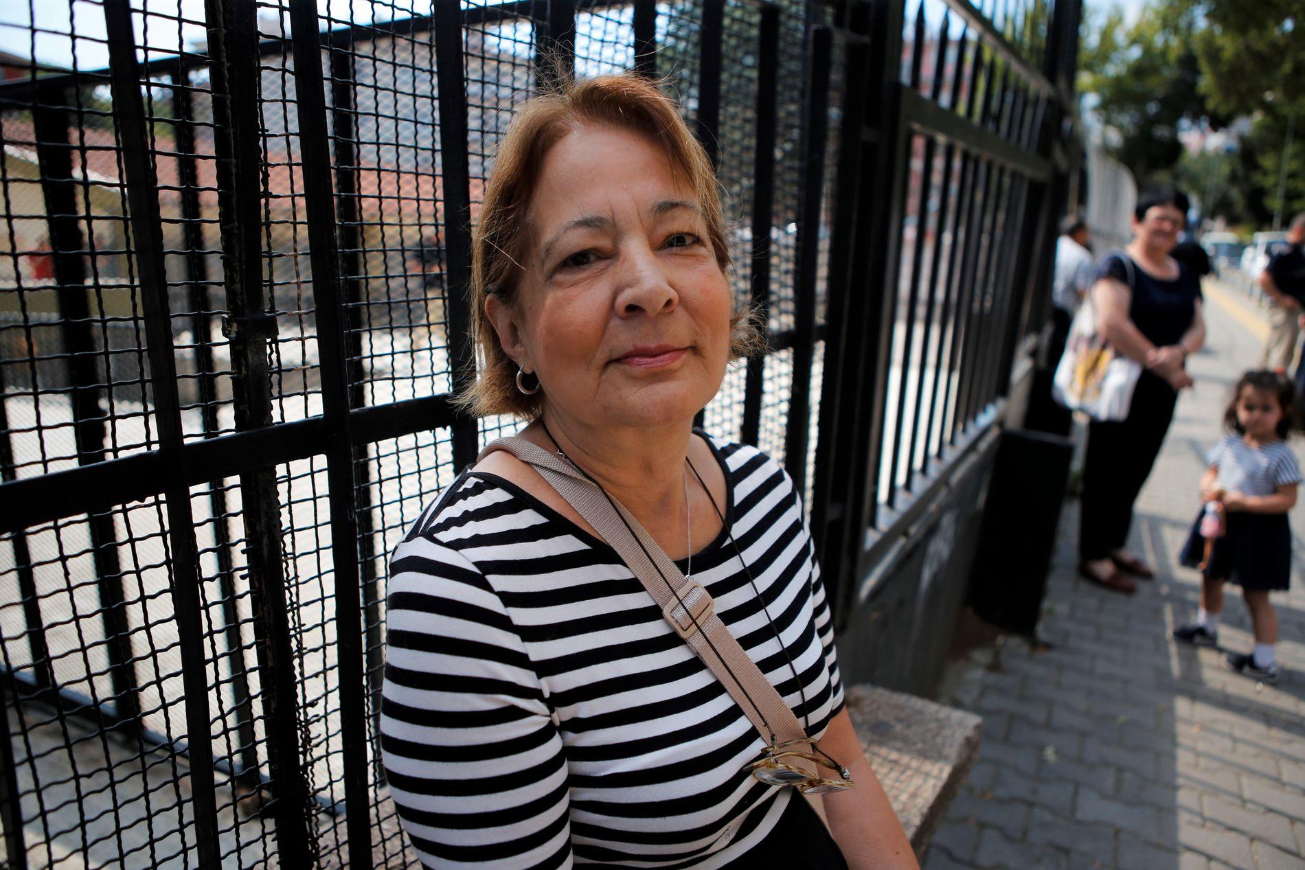 SEKULÆR VELGER: Mevhibe Aktuna (66) i Cankaya i Ankara stemmer på CHP og Muharrem Ince.