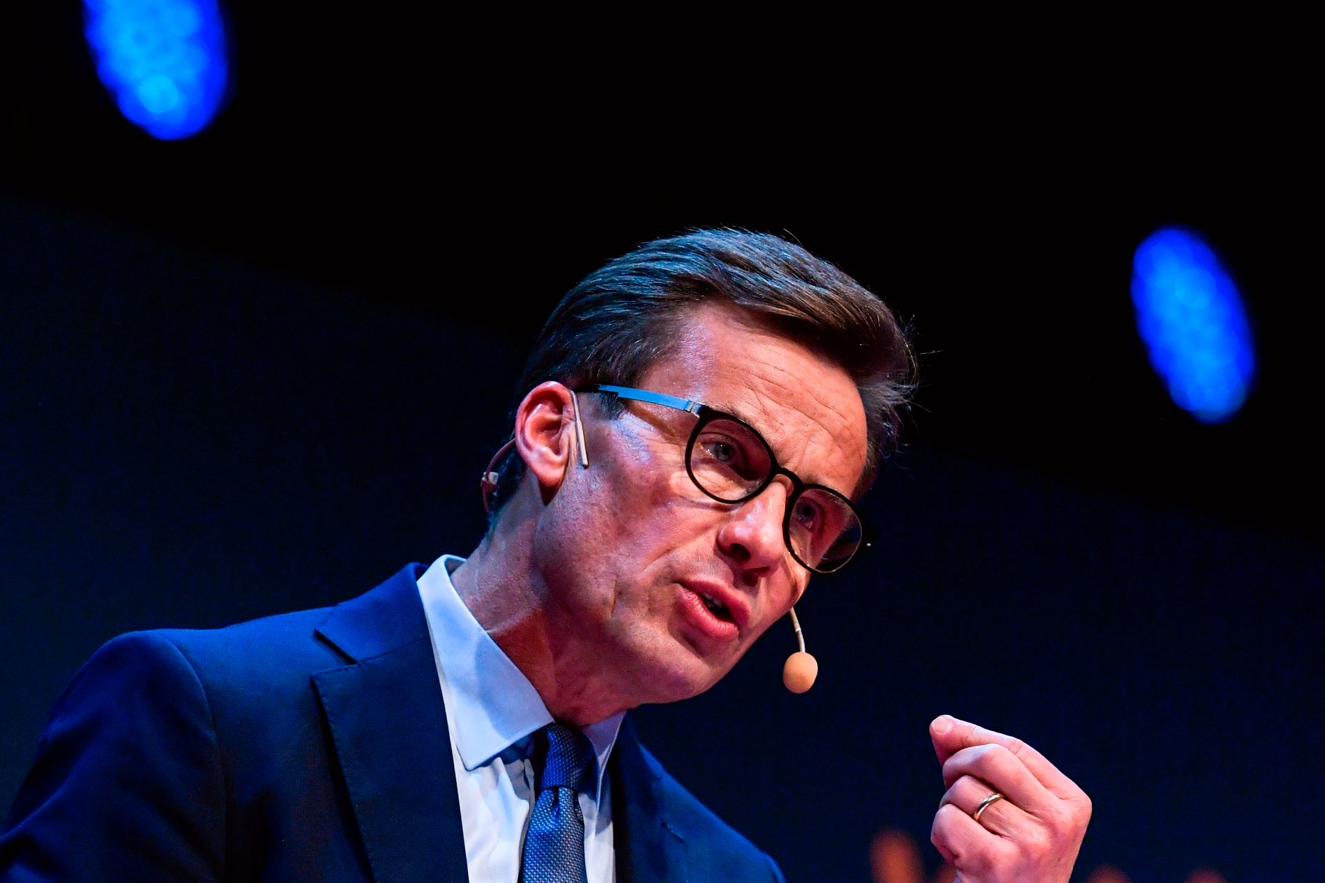 SIER NEI: Moderaternas leder Ulf Kristersson vil ikke ha ny regjering ledet av Socialdemokraterina. Han sier også nei til samarbeid med Sverigedemokraterna.
