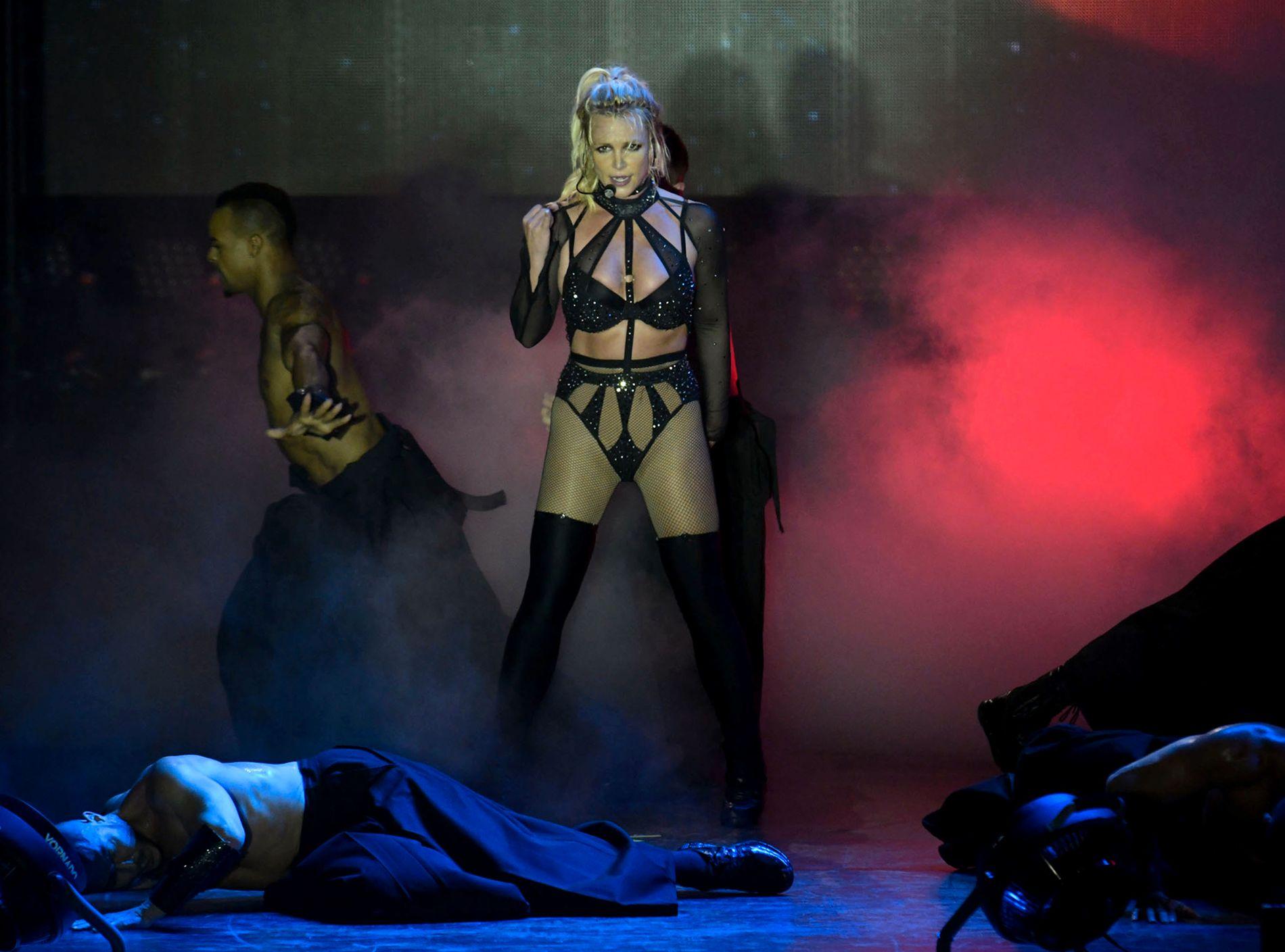 NORGESKLAR: Britney Spears, her på scenen i Brighton sist helg.