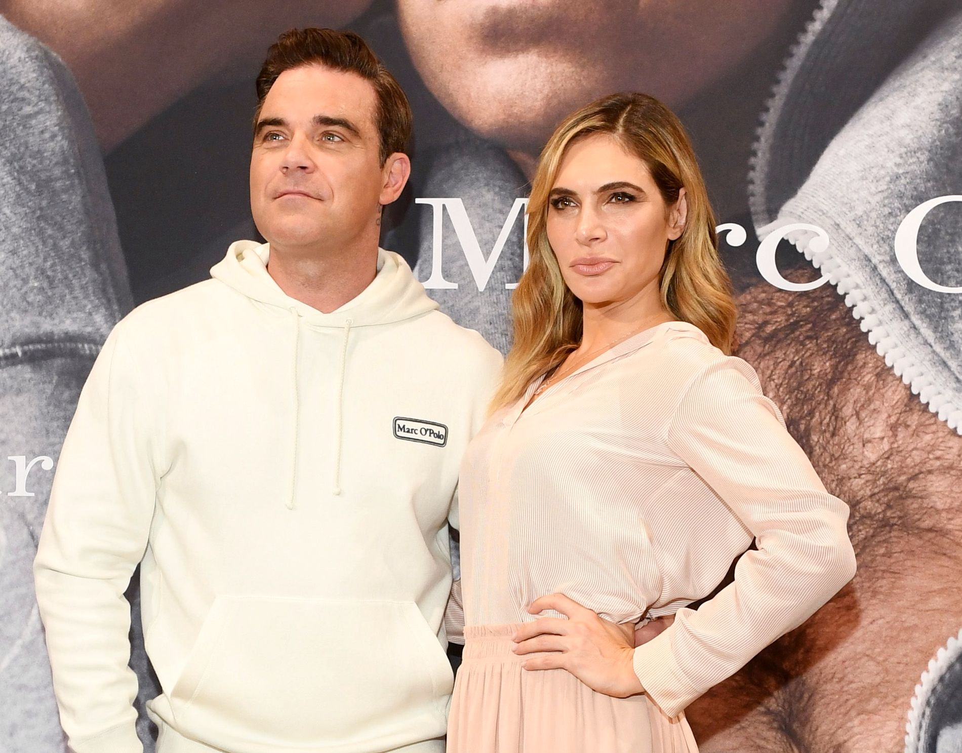 PAR: Robbie Williams og Ayda Field, her i Tyskland i fjor.