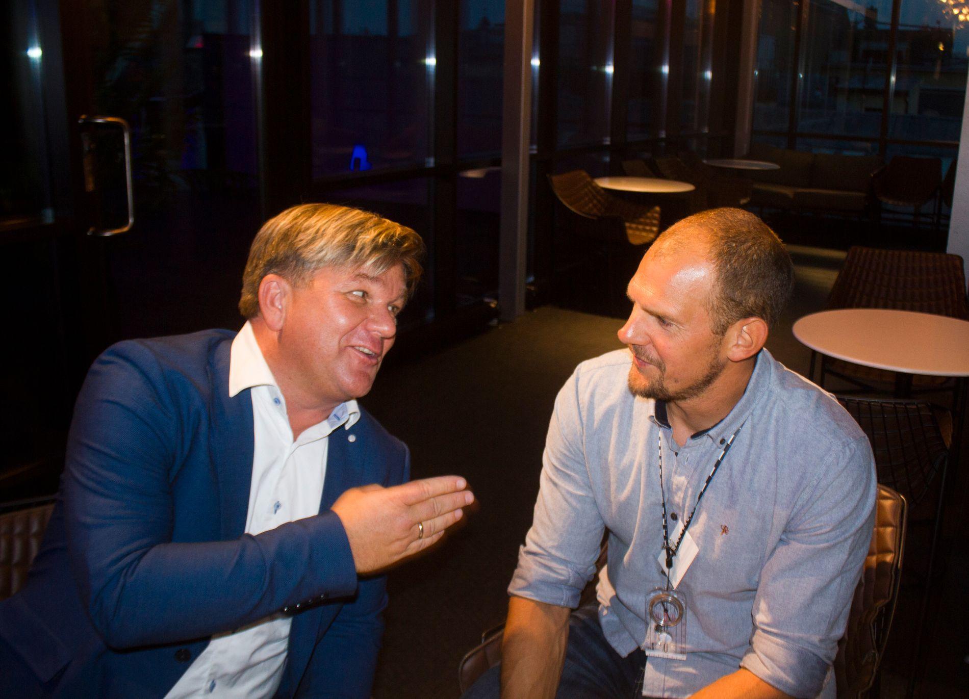 VINNER AV KJENDISUTGAVEN I 2014: Olaf Tufte (til høyre). Henning Solberg ble nummer tre, men humøret torsdag var det ikke noe å si på.