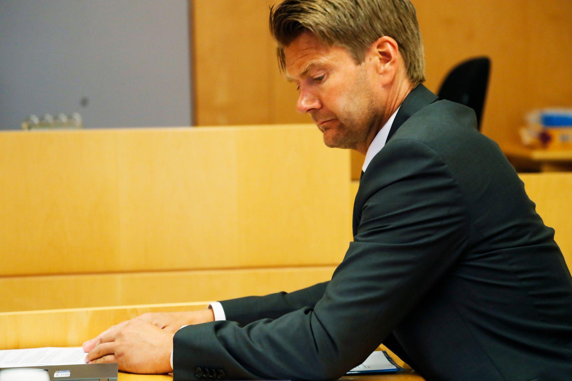 AKTOR: Politiadvokat Christian Hatlo i mandagens fengslingsmøte i Oslo tingrett.
