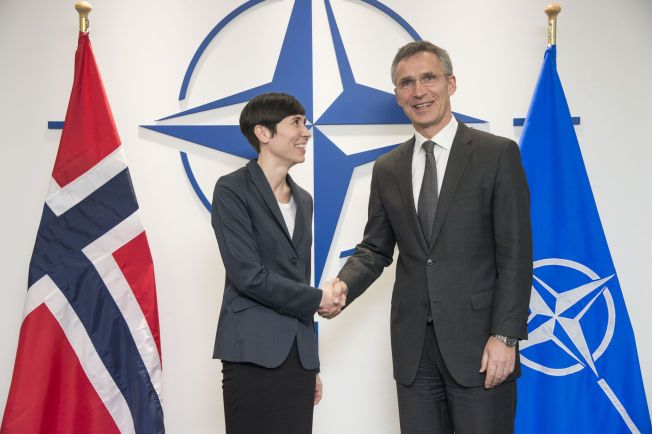 FORMELT: Forsvarsminister Ine Eriksen Søreide tror at Russland vil teste NATO og Jens Stoltenberg ytterligere fremover.