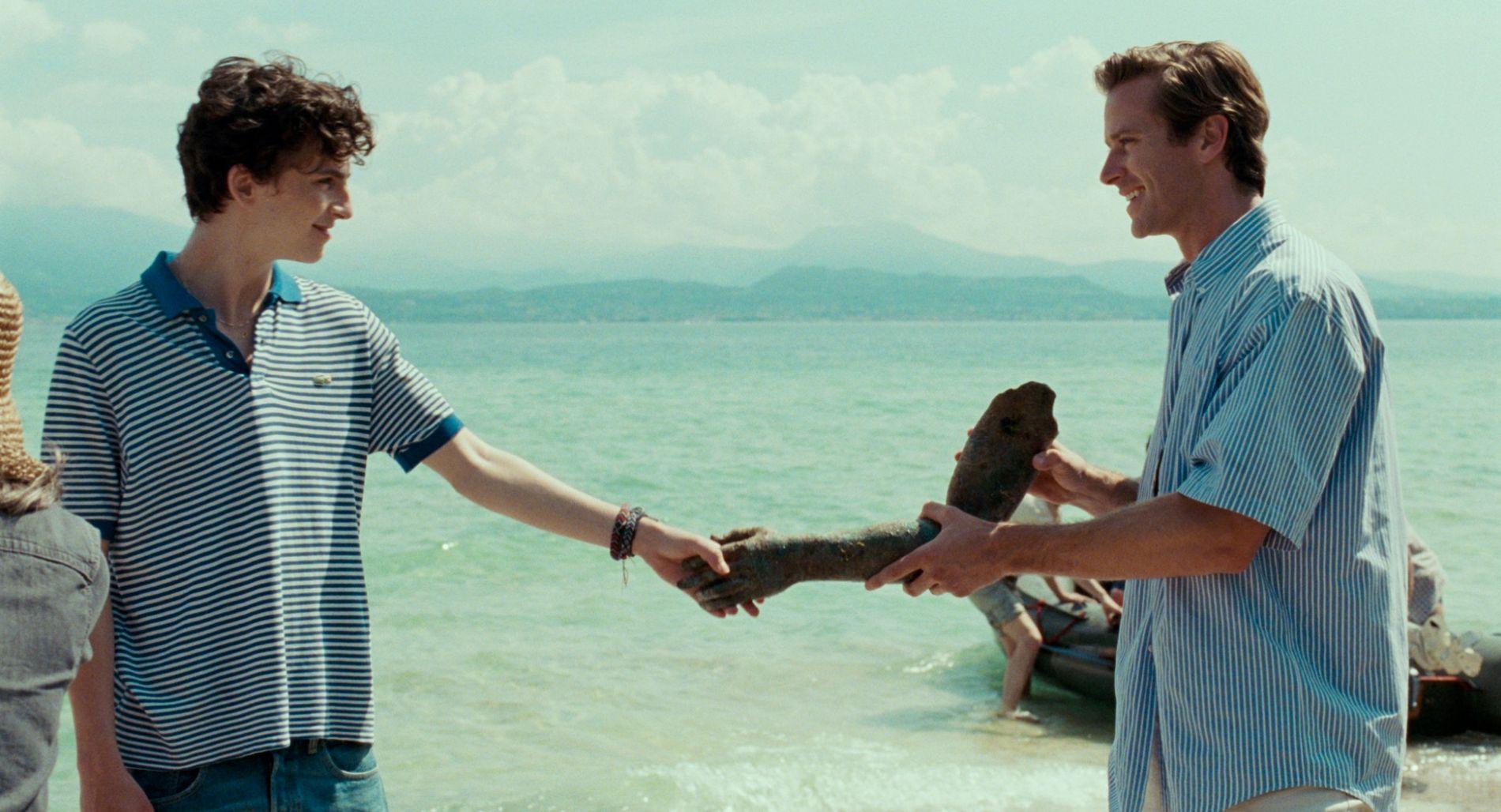 DA HAN MØTTE HAN: Timothée Chalamet (til venstre) og Armie Hammer i «Call Me By Your Name». FOTO: United International Pictures