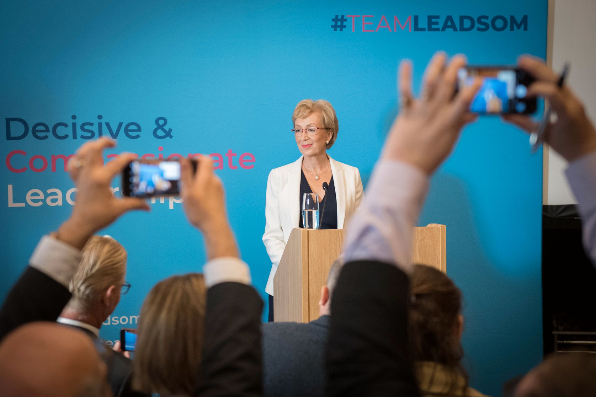 TILBAKE: Dette er Andrea Leadsoms andre forsøk på å bli valgt. I 2016 trakk hun seg - det banet vei for Theresa May.