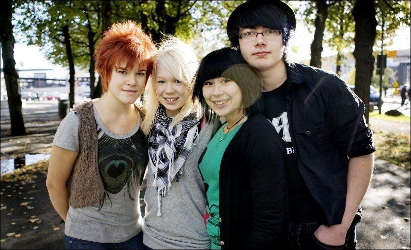 SLO GJENNOM: De opprinnelige medlemmene i «The BlackSheeps» fra 2009. (f.v.) Viktoria Eriksen, Agnethe Johnsen, Emilie Nilsen og Alexander Touryguin. Foto: Scanpix.