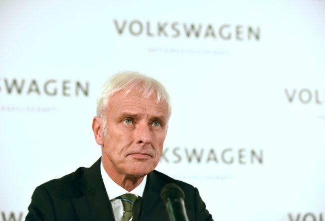 I RETUR: Volkswagens nye toppsjef Matthias Müller sier at selskapet vil begynne å tilbakekalle biler i januar.