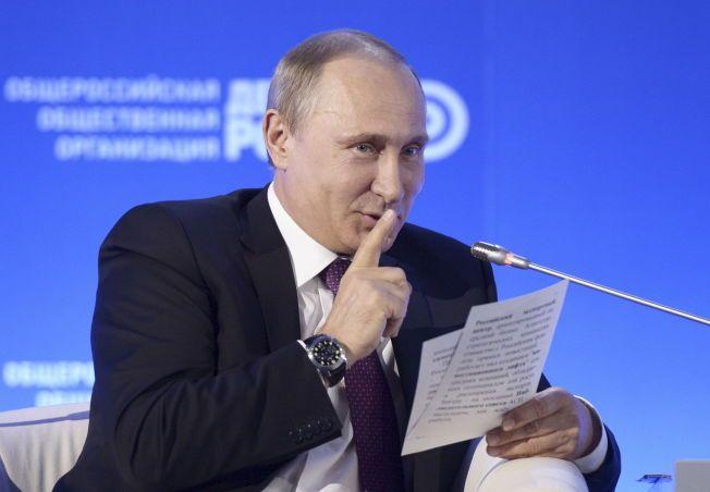 PRESIDENTEN: Putin liker ikke kritikk - og har derfor svartelistet nesten 100 av andre lands ministere og parlamentarikere.