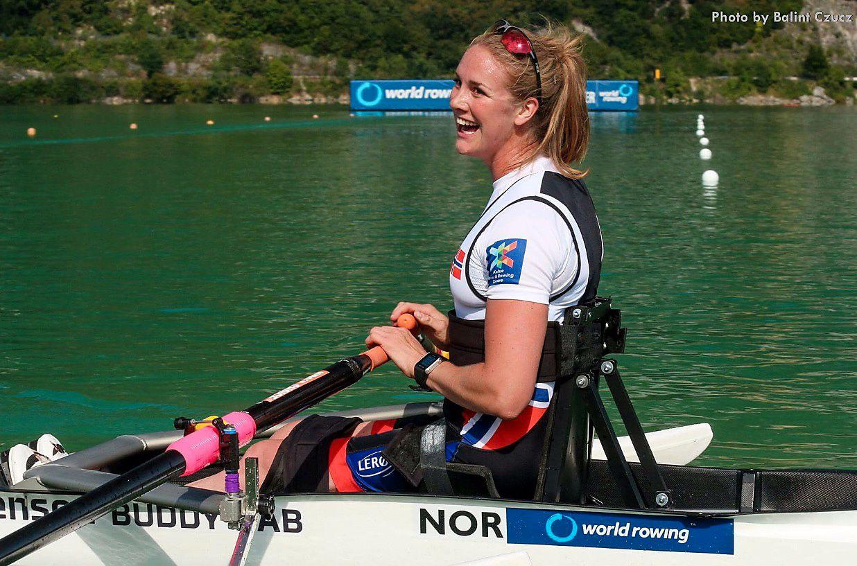NÆR VERDENSREKORD: Birgit Skarstein varsler knallform til Rio-OL. Lørdag gikk det unna i Polen.