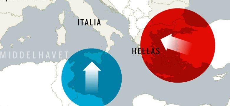 DE GAMLE RUTENE: EU/Tyrkia-avtalen gjør av asylsøkere som kommer til Hellas, sendes tilbake til Tyrkia. Fra Libya til Italia er det fortsatt mulig å ta seg over med båt.