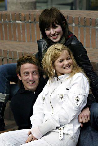 DANKET UT JENTENE: Kjarten Salvesen konkurrerte mot Margaret Berger og Sandra Lyng i «Idol» 2004. Foto: JANNE MØLLER-HANSEN