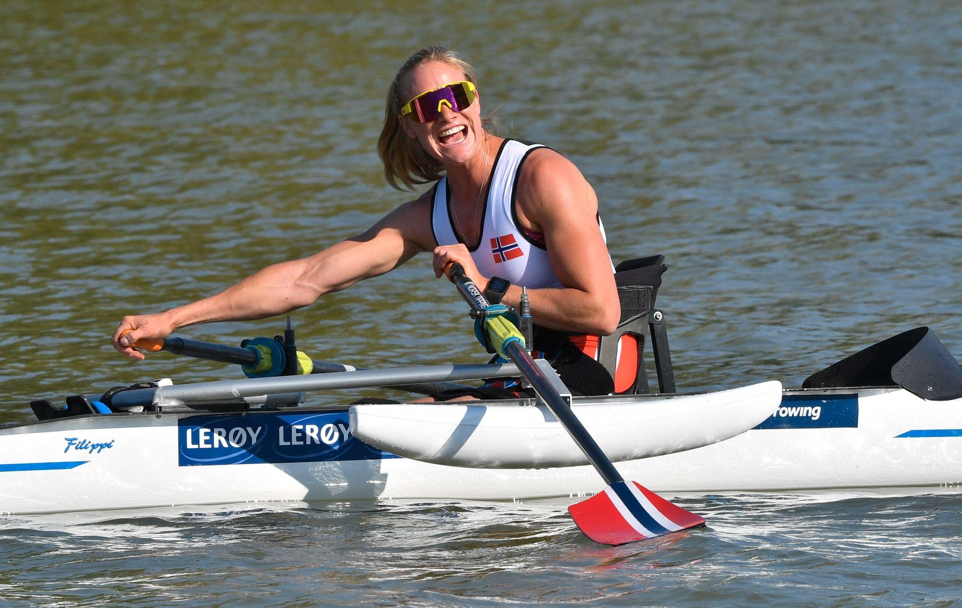 FAVORITT: Birgit Skarstein var klart best i forsøksheatet. Søndag ror hun VM-finalen.