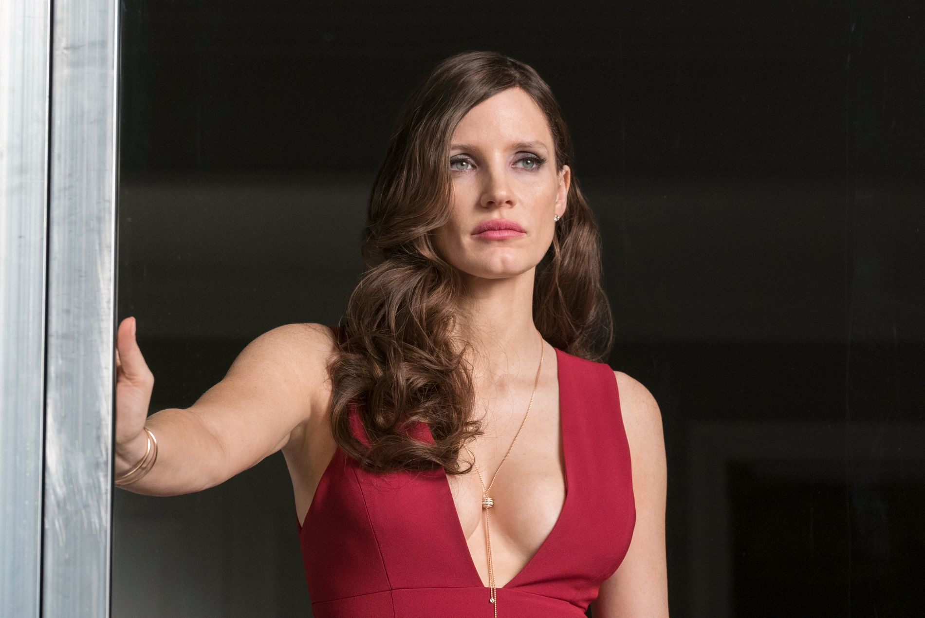 POKERBORDETS DRONNING: Jessica Chastain i «Molly's Game».