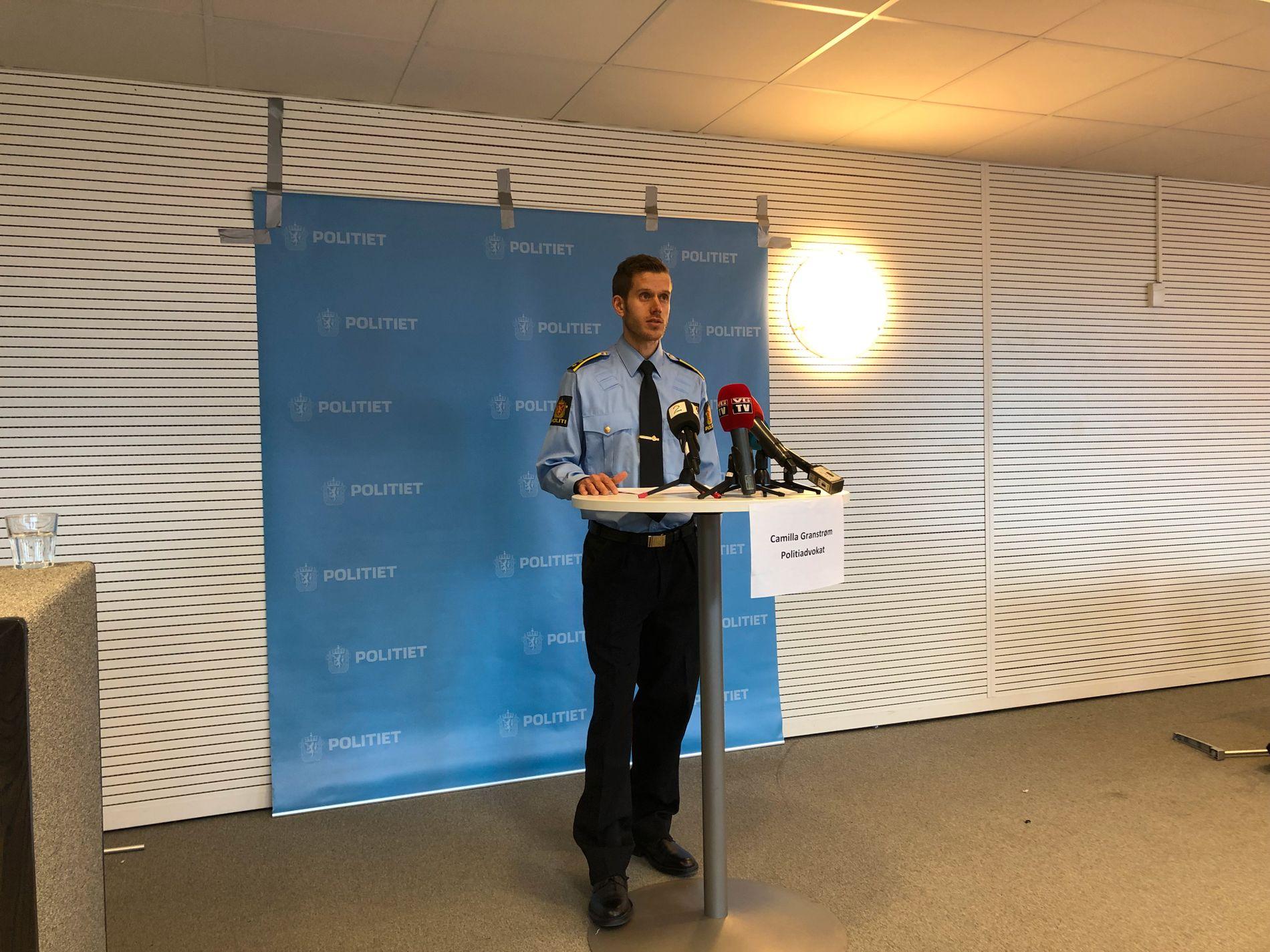 ETTERFORSKNING: Forløpet til pågripelsen av de to mennene var dramatisk, sier etterforskningsleder Frode Stenberg ved Øst politidistrikt.