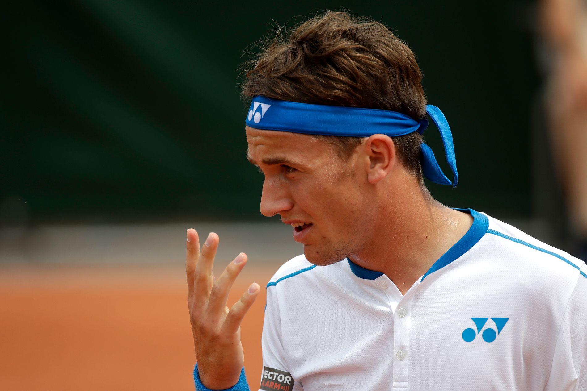 INGEN FINALE: Casper Ruud måtte tåle semifinaletap i Las Vegas. Dette bildet er fra French Open tidligere i år.