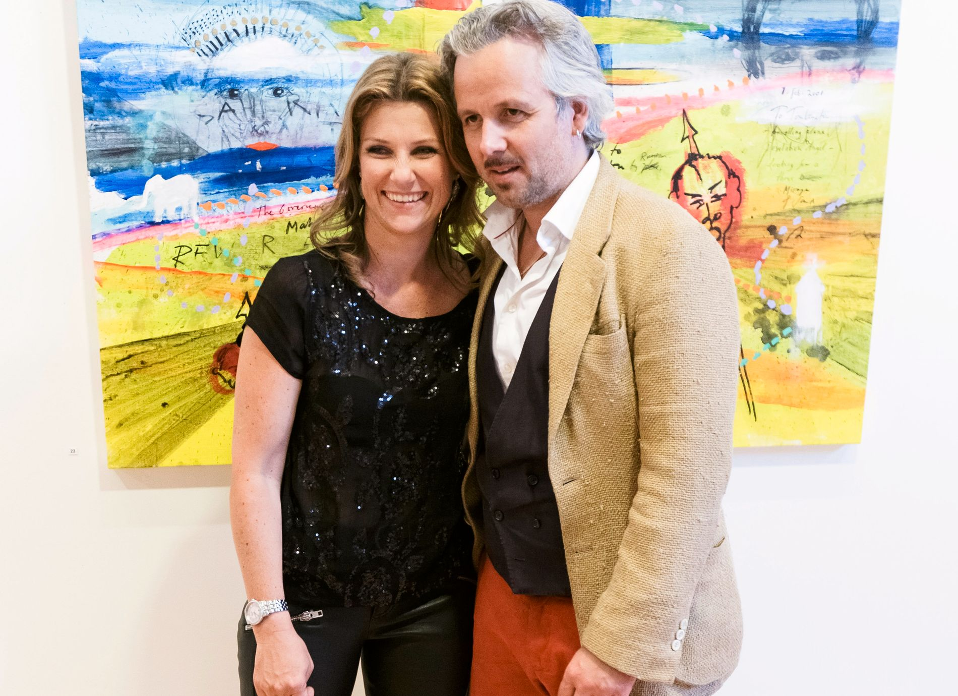 2014: Märtha Louise sammen med Ari Behn på hans utstilling i Drammen – to år før bruddet.