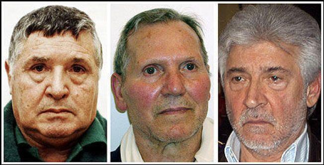GUDFAREN I - II & III: «Totò» Riina (t.v.) ble arrestert i 1993, mens Bernardo Provenzano (midten) ble tatt 2006 og Salvatore Lo Piccolo (t.h.) året etter. Foto: REUTERS