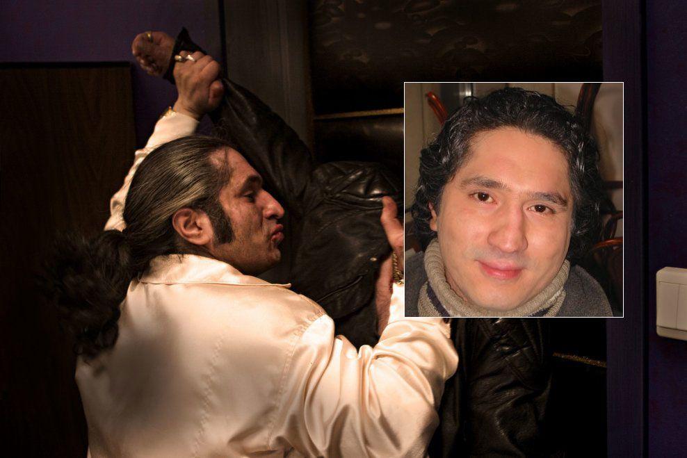 HARDTSLÅENDE ROLLE: Daud Mirza i aksjon i gangsterfilmen «Izzat» fra 2005. Foto: Filmkameratene/Børre Haugstad