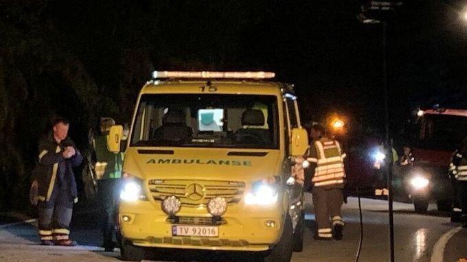 ULYKKESSTEDET: Nødetatene fikk melding om ulykken klokken 20.18.