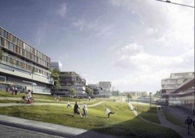 FREMTIDSSYKEHUS: Det planlegges sykehus for mange tiår framover. Dette er fra alternativet Gaustad Sør ved Rikshospitalet.