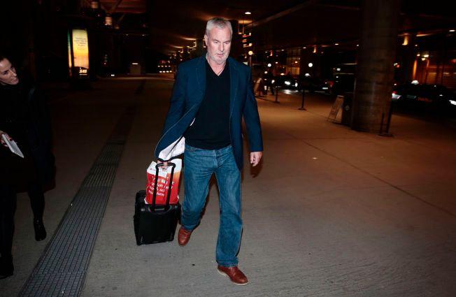 PÅ NORSK JORD: Espen Lee landet på Gardemoen fredag kveld etter å ha vært arrestert på Kypros.