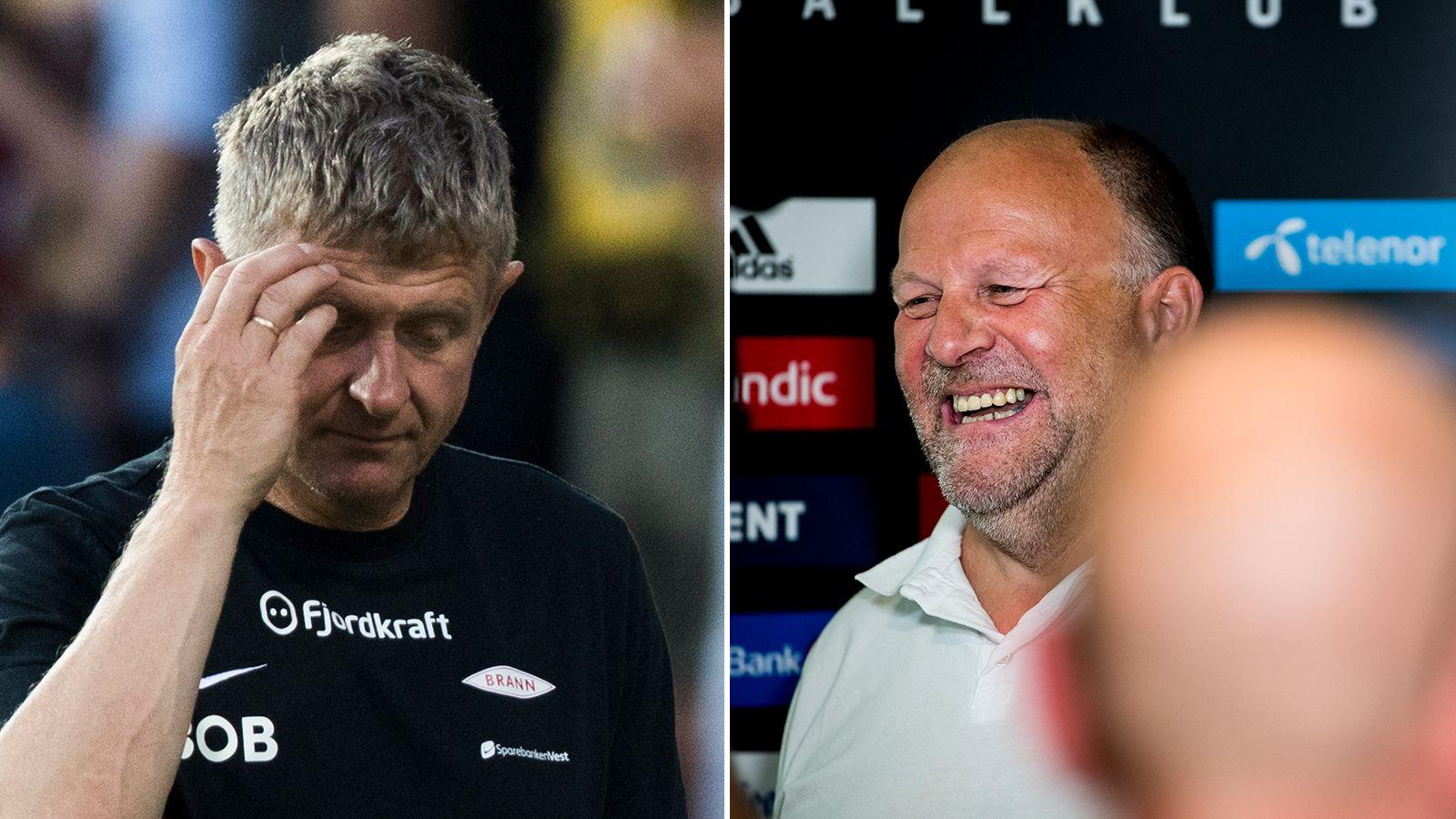 GULLDUELLEN: Brann-Trener Lars Arne Nilsen må selge, mens Rosenborg-styreleder Ivar Koteng kan kjøpe.