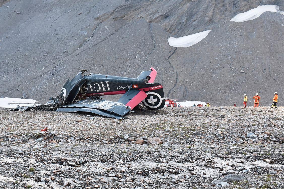 KNUST: Dette er alt som er igjen av ulykkesflyet.