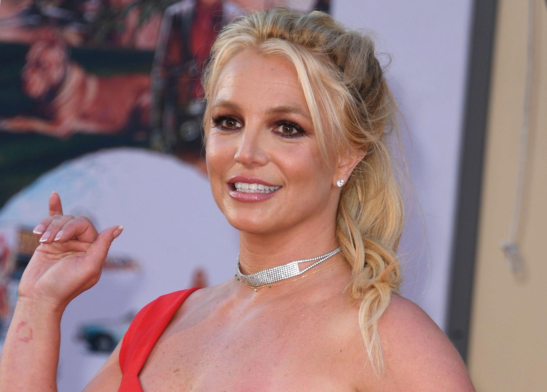 POPIKON: Britney Spears, her på en filmpremiere i Hollywood i juli i år.