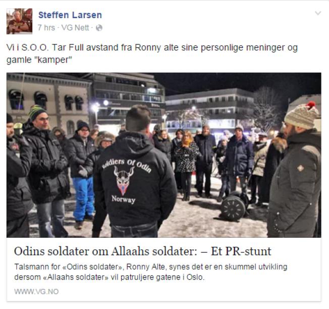 REAGERER: Steffen André Larsen reagerte på Altes utspill i media tidligere denne uken.