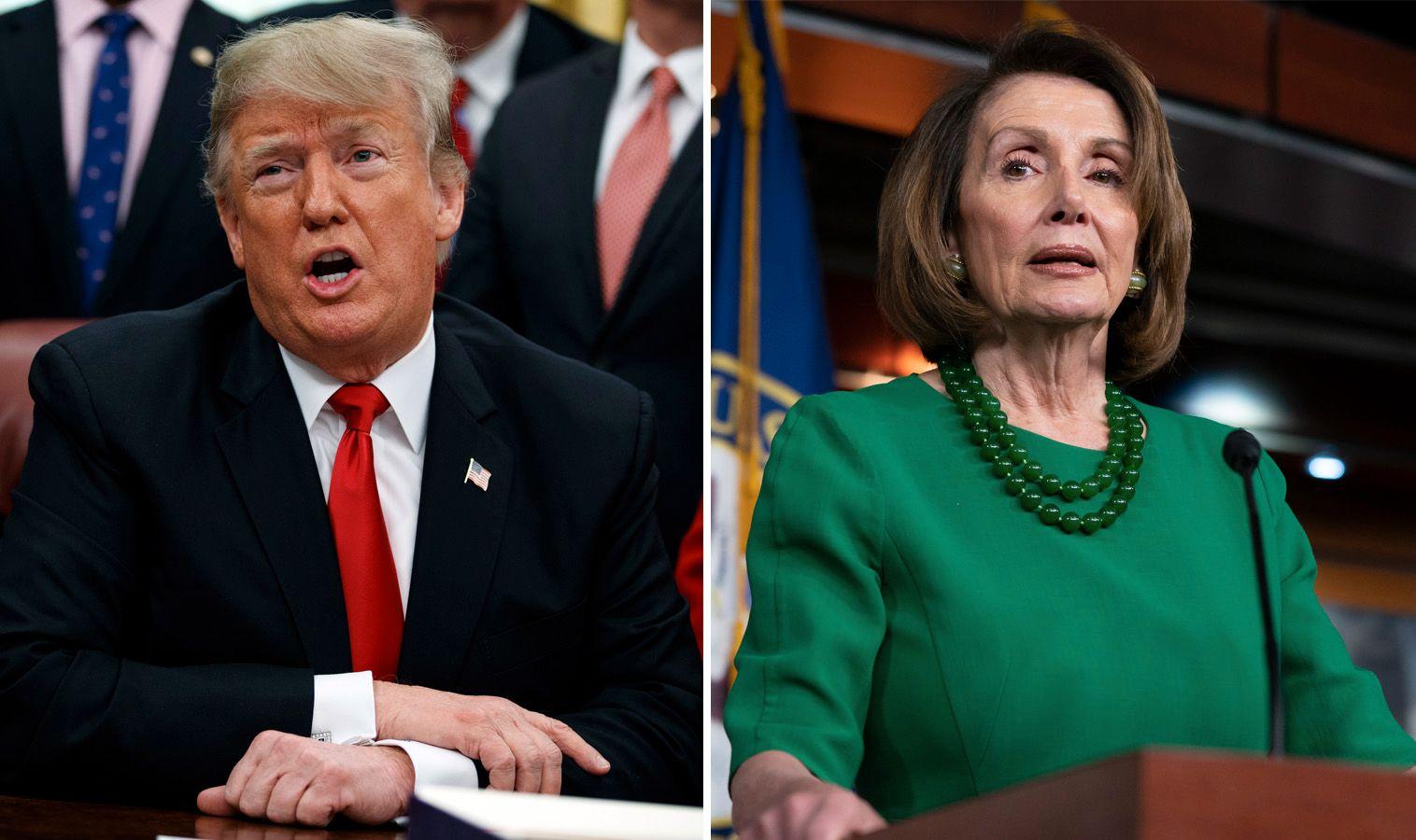 KRANGLER: Donald Trump og Demokratene klarer ikke å bli enige om budsjettet på grunn av Trumps Mexico-mur. Lederen for Representantenes hus, Nancy Pelosi, omtalte møtet på torsdag mellom Republikanerne og Demokratene som «langvarig og til tider hissig».