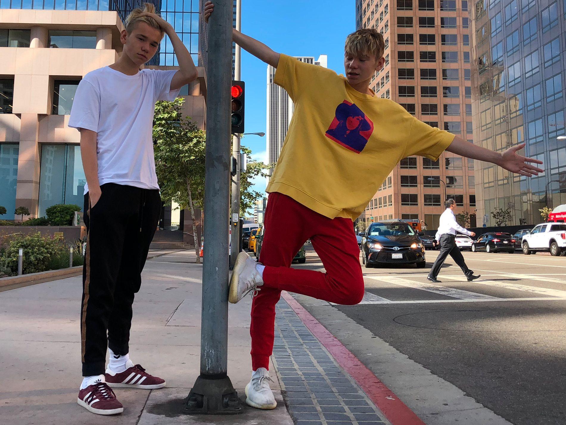 SATSER I UTLANDET: Marcus og Martinus tar videregående som privatister, og er nå i USA for å spille inn musikkvideo.