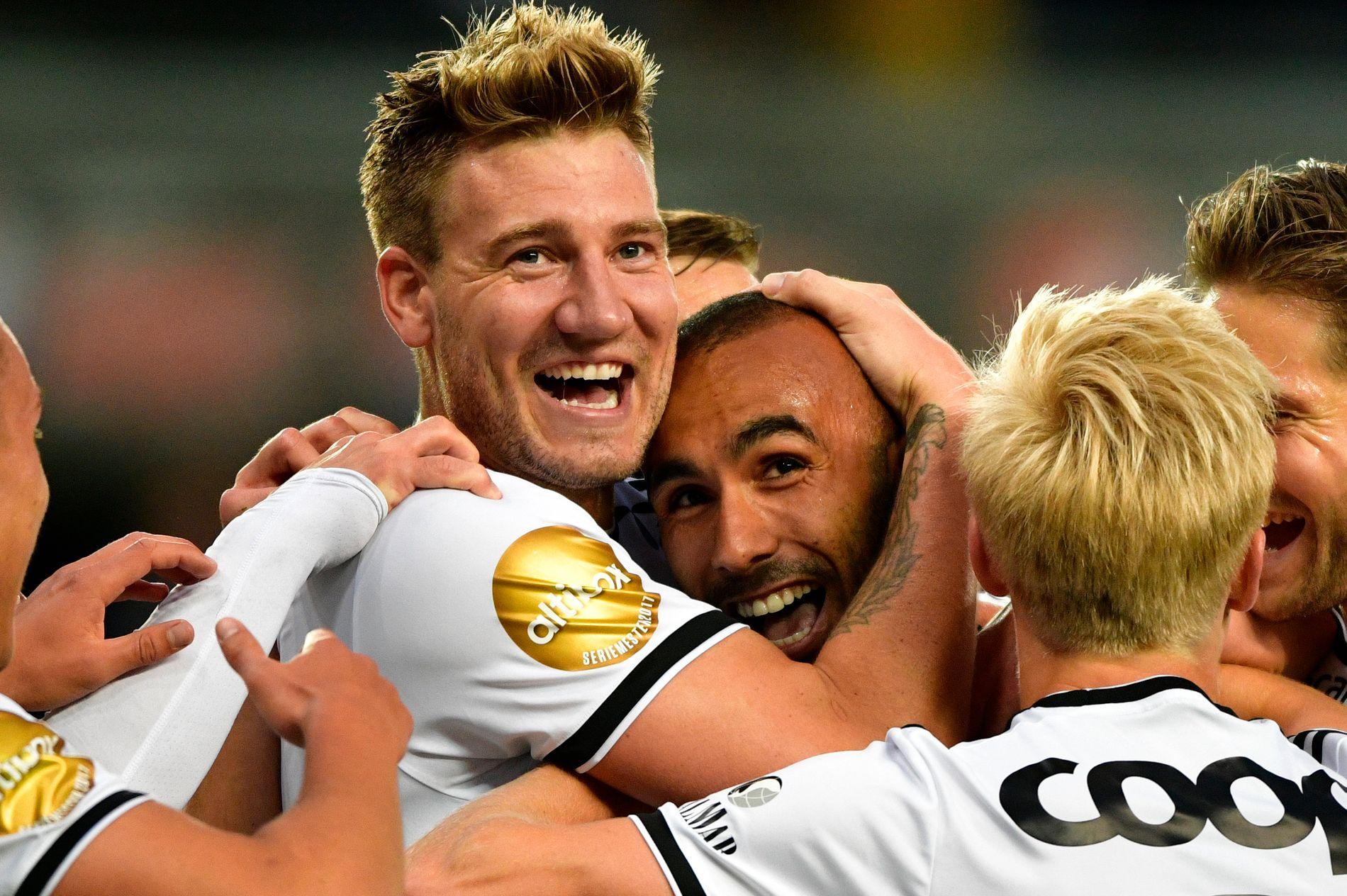 HAR FUNNET TONEN: Både Nicklas Bendtner og Issam Jebali scoret to lekre mål for Rosenborg i 3-1-seieren over makedonske Shkëndija på Lerkendal i går.