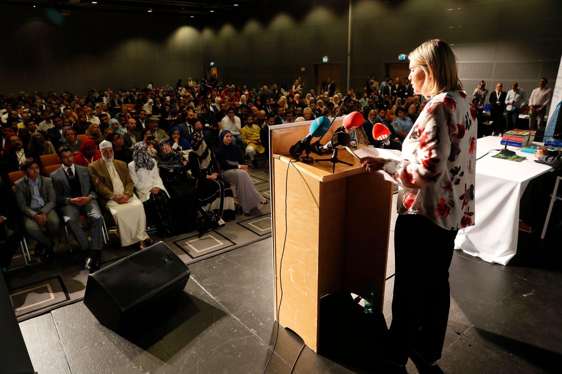 INNLEDER: Listhaug var en av flere innledere på helgens konferanse.