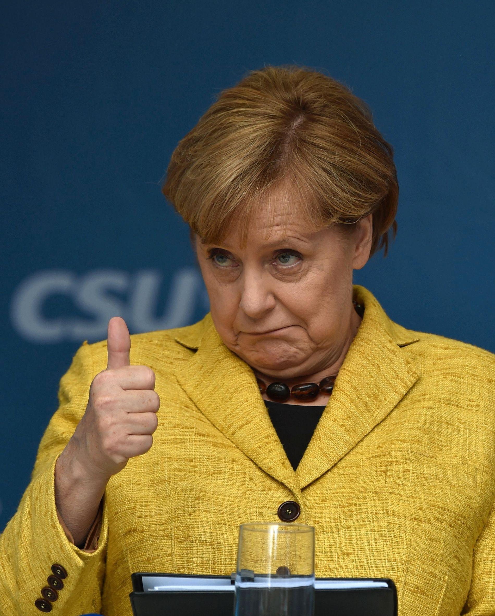 LIGGER GODT AN: Merkel og CDU har stor oppslutning, og selv om AfD vokser er de fortsatt et av småpartiene.