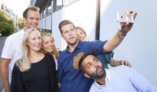 SPENTE: Fra venstre Morten Hegseth, Gry Granum Stang, Silje Ensrud, Mads A. Andersen, , Nora Thorp Bjørnstad og Ahmed Fawad Ashraf.