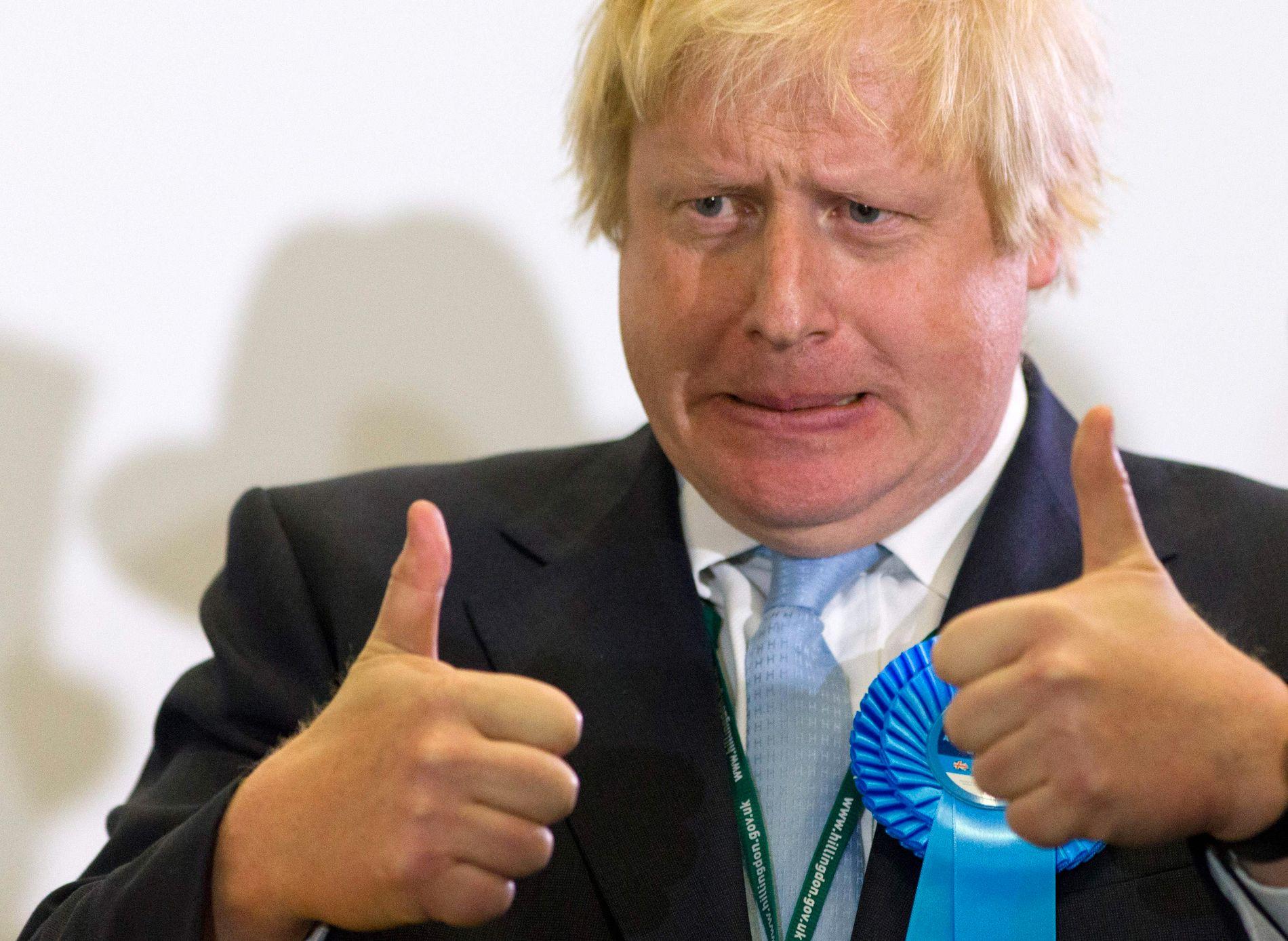 OMSTRIDT: Tidligere utenriksminister Boris Johnson leder kappløpet om å bli leder for det konservative partiet. Vinner han kampen overtar han statsministerstolen etter Theresa May.