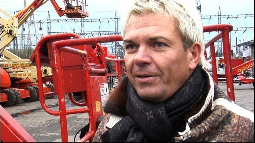 RANET: Lars Ole Johansen (48) ble tvunget til å overføre 40.000 kroner da tre menn kom til lokalene til Oslo liftutleie. Nå er mennene dømt før ran. Foto: MERETE GAMST / VG
