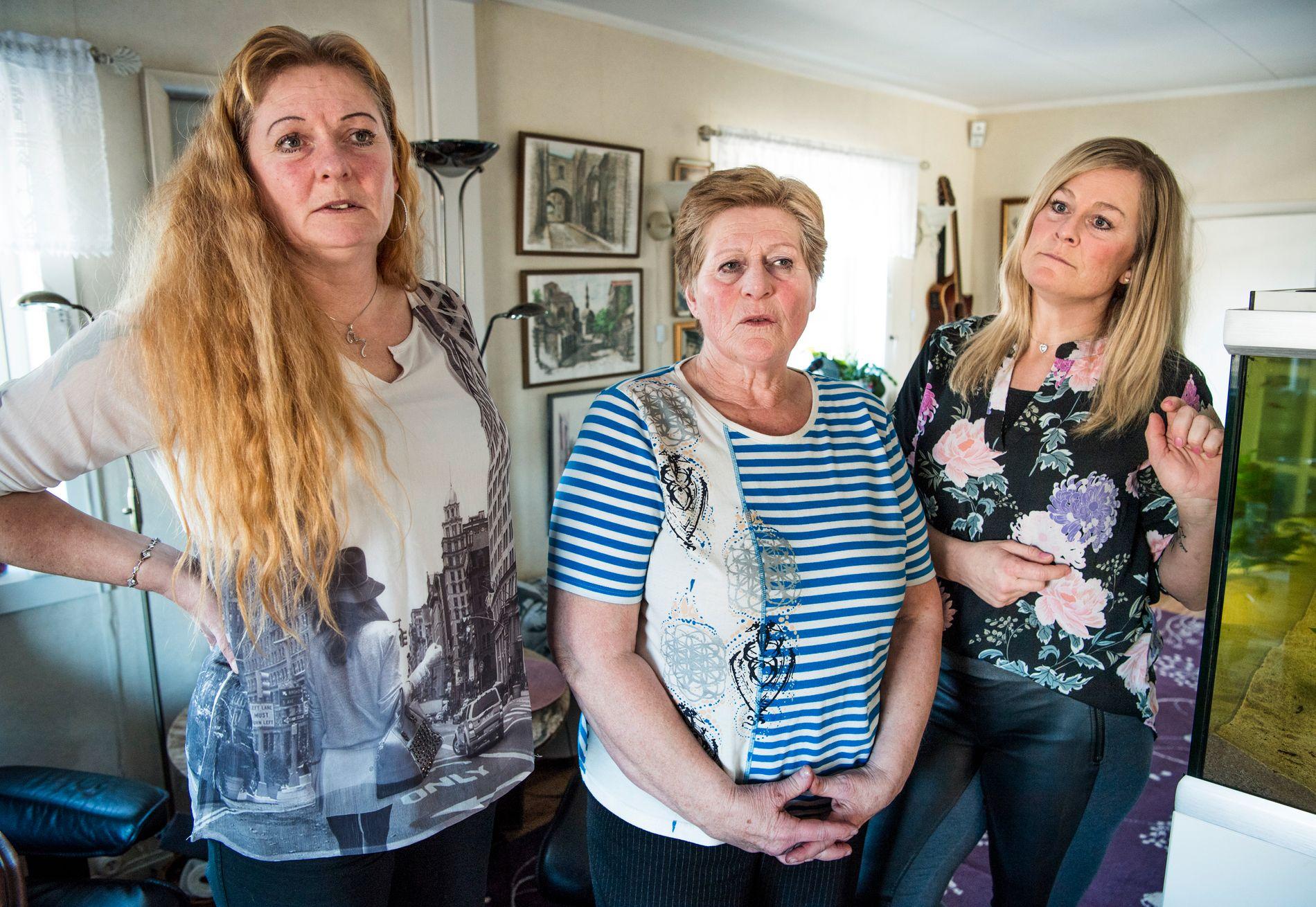 FORTVILET: Heidi Anita (til venstre), Berit og Mona Viola mener ektemann og pappa Stein ikke får tilstrekkelig oppfølging på Sykehuset Østfold. Nå planlegger de en formell klage til sykehusledelsen.