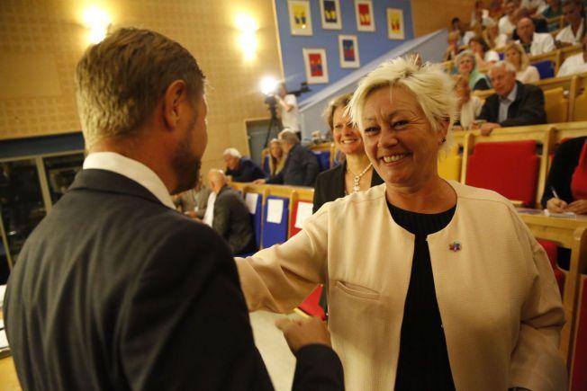 OPTIMIST: Kreftforeningens leder Anne-Lise Ryel tror på Arthur Buchardts plan om åpning av det nye Radiumhospitalet julaften 2018. - Der skal jeg være, sier hun.
