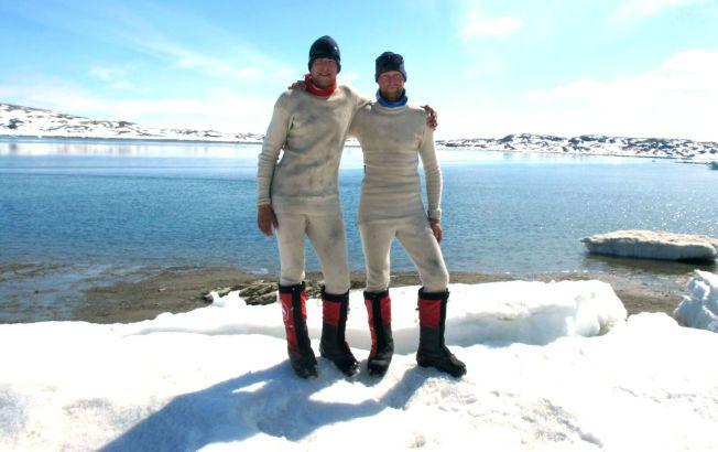 EVENTYRLYSTNE: Dette viser begge gutta på Grønland.
