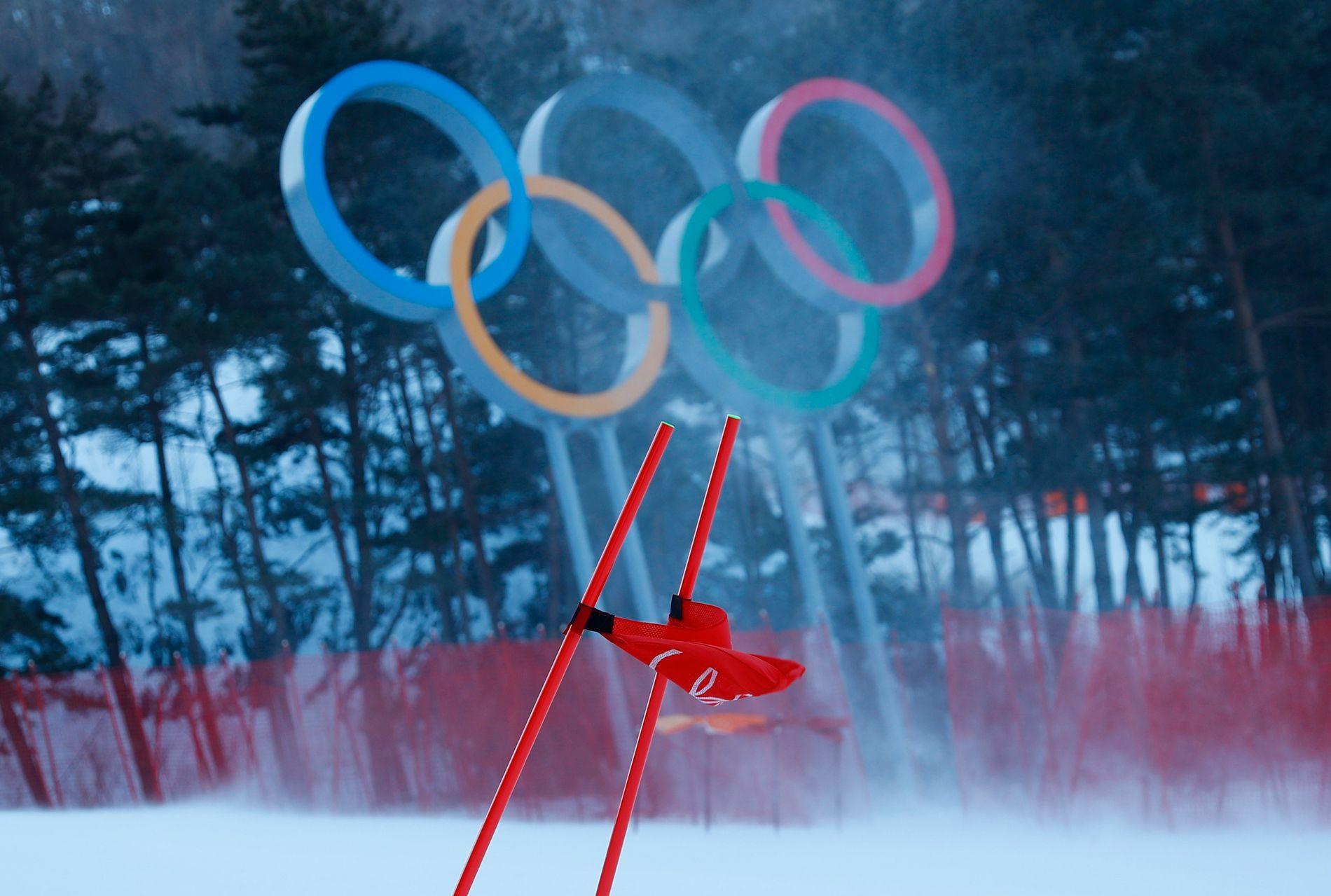 BLÅSER: Vinden skaper utfordringer i Pyeongchang.
